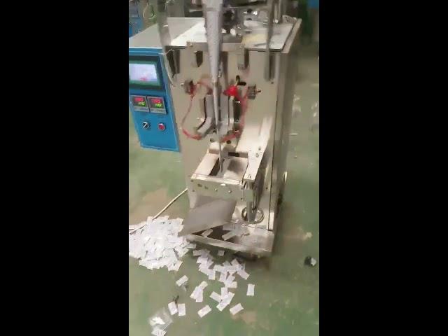 Kiina toimittaja Automaattinen pystysuora tyyny pussi sirut nestemäinen välipala pakkaus kone
