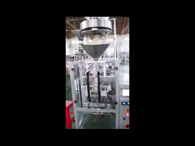 Annostus tilavuusvirtauskuppeilla Linssit Rice Sugar Packing Machine Pystysuora lomake Täytä tiivistyskone