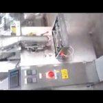 Pystysuorat 4-puoliset sulkemalla pieniä jauhepussipusseja